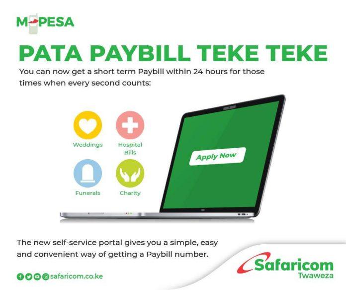 How do I apply for a Short Term M-PESA Pay Bill account