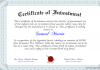 Investment Certificate.
