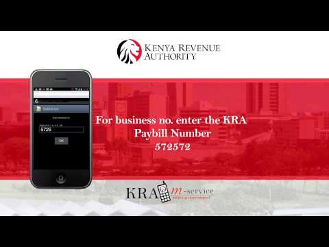 How to use KRA M-service to pay your taxes.