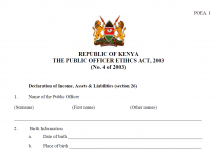 How to fill the TSC wealth declaration form online