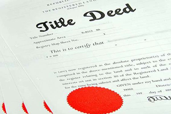 How to Apply for a Title Deed