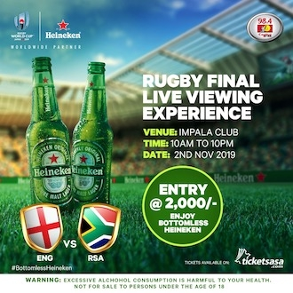 Rugby Fans: Rugby Final Viewing Party with Heineken