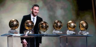 Lionel Messi wins sixth Ballon d'Or award