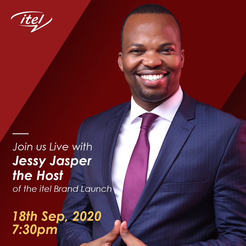 MC Jessy Jasper welcomes you to itel Brand Launch coming live on KTN, Friday, 18th sept 2020 at 1930 hrs