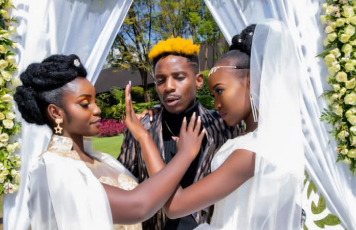 Dramatic socialite Shakilla stormed comedian Erick Omondi's private a wedding causing a storm